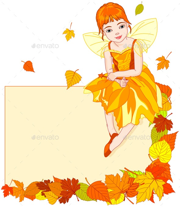 Autumn Fairy Place Card - Miscellaneous Characters