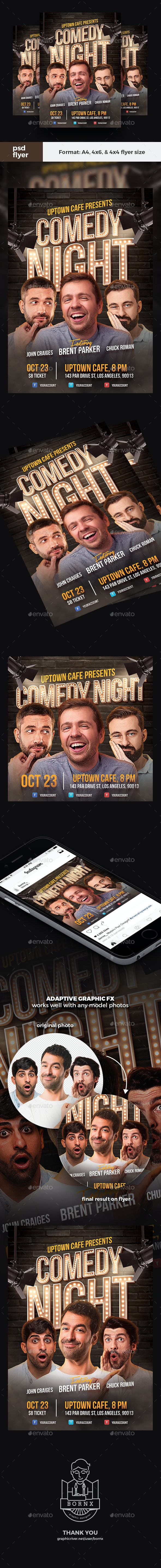 Comedy Night Flyer Template - Events Flyers
