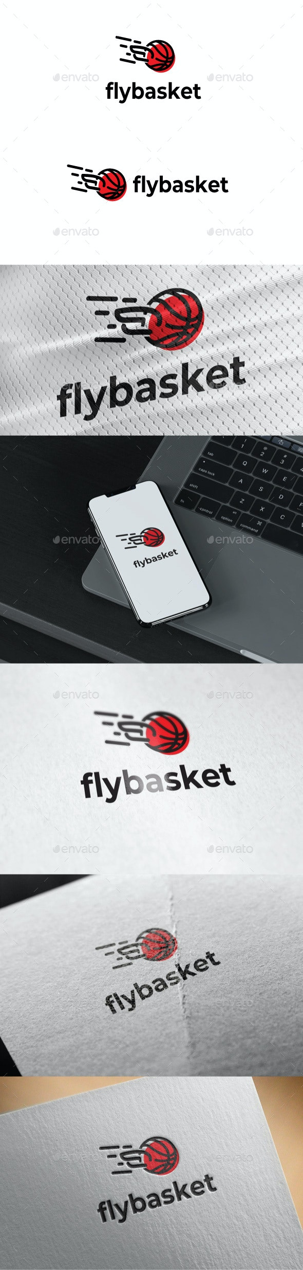 Wings Basket Logo - Sports Logo Templates