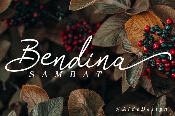 Bendina Sambat - Handwriting Fonts