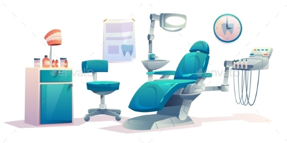Dentist Office Dental Cabinet Interior Stomatology - Health/Medicine Conceptual
