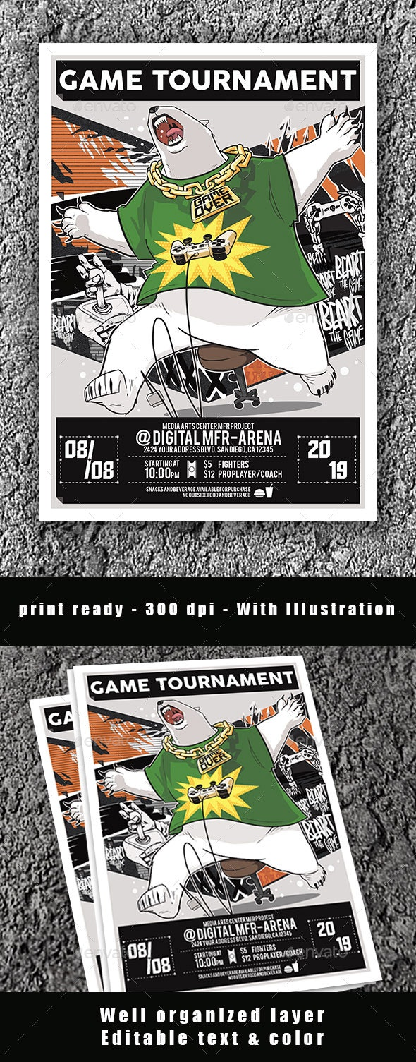 Game Tournament Flyer Poster - Events Flyers
