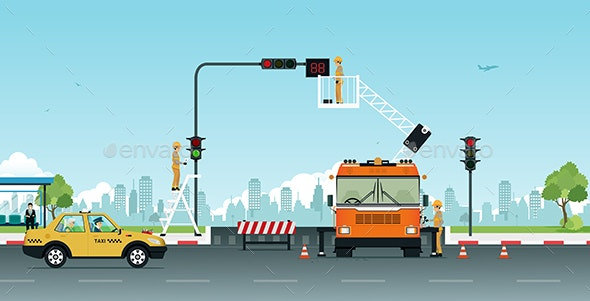 Repair Traffic Lights - Services Commercial / Shopping