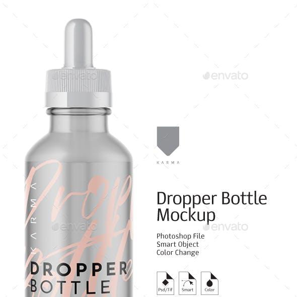 Dropper Bottle Mockup