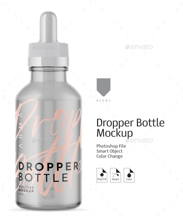 Dropper Bottle Mockup - Product Mock-Ups Graphics