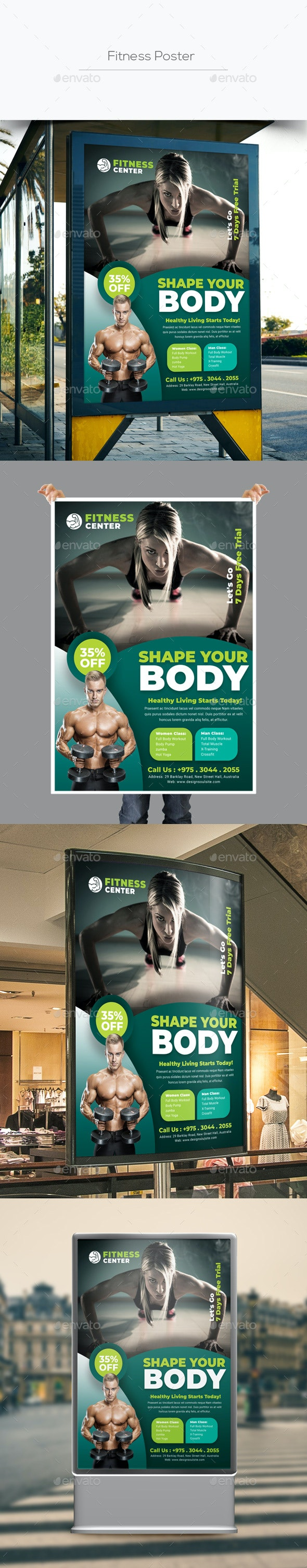 Fitness Poster - Signage Print Templates