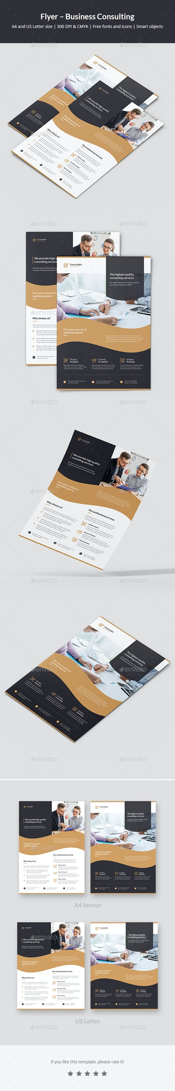 Flyer – Business Consulting - Corporate Flyers