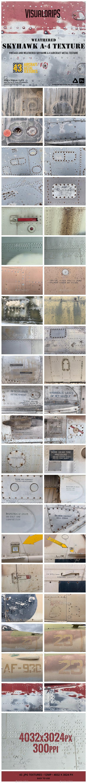 Skyhawk A-4 Turbojet Aircraft Weathered Metal Textures - Metal Textures
