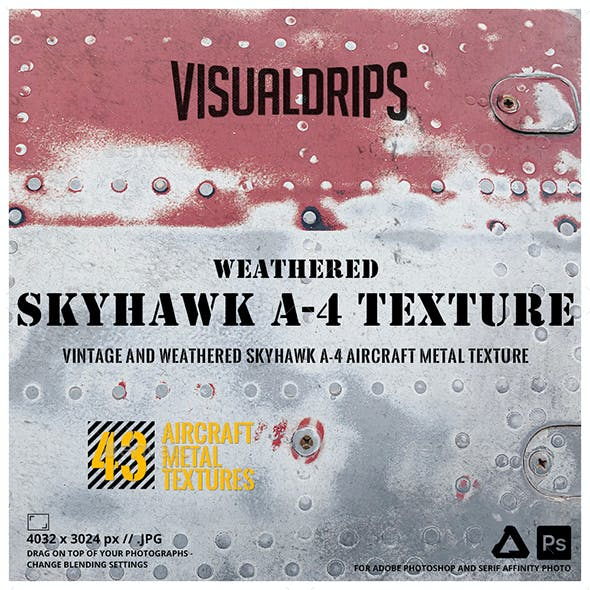 Skyhawk A-4 Turbojet Aircraft Weathered Metal Textures