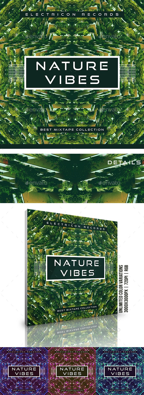 Nature Vibes Abstract Music Cover Album Artwork Template - Miscellaneous Social Media