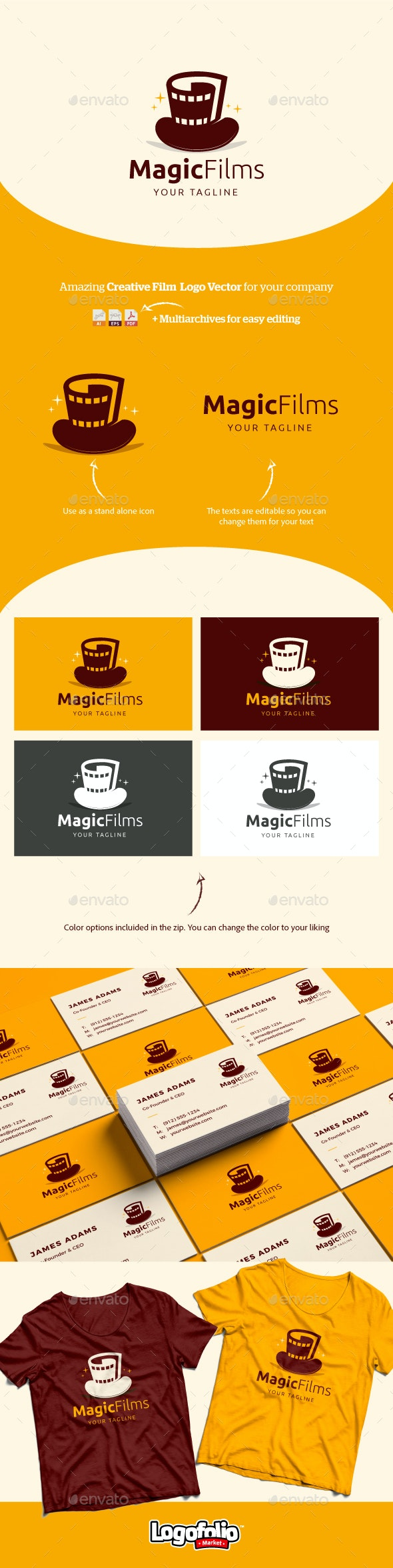MagicFilms Logo Vector - Company Logo Templates