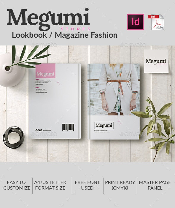 Megumi | Lookbook / Magazine Fashion - Magazines Print Templates