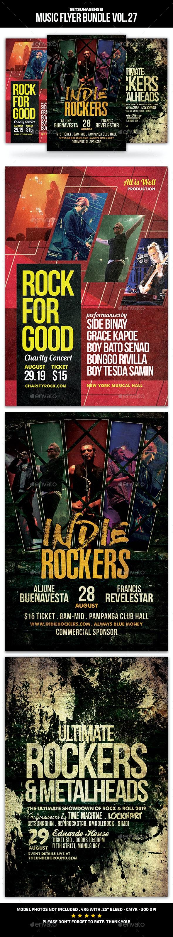 Music Flyer Bundle Vol. 27 - Concerts Events
