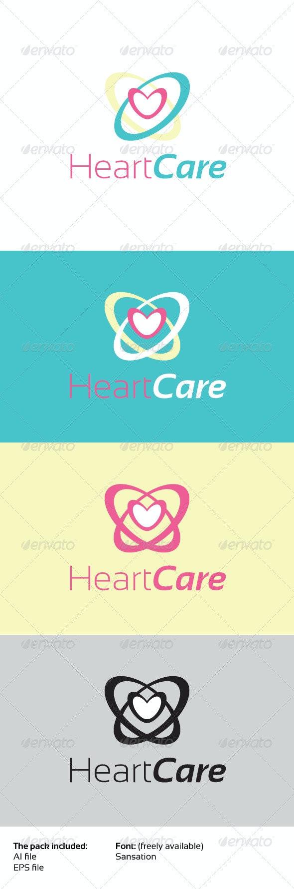 Heart Care - Humans Logo Templates