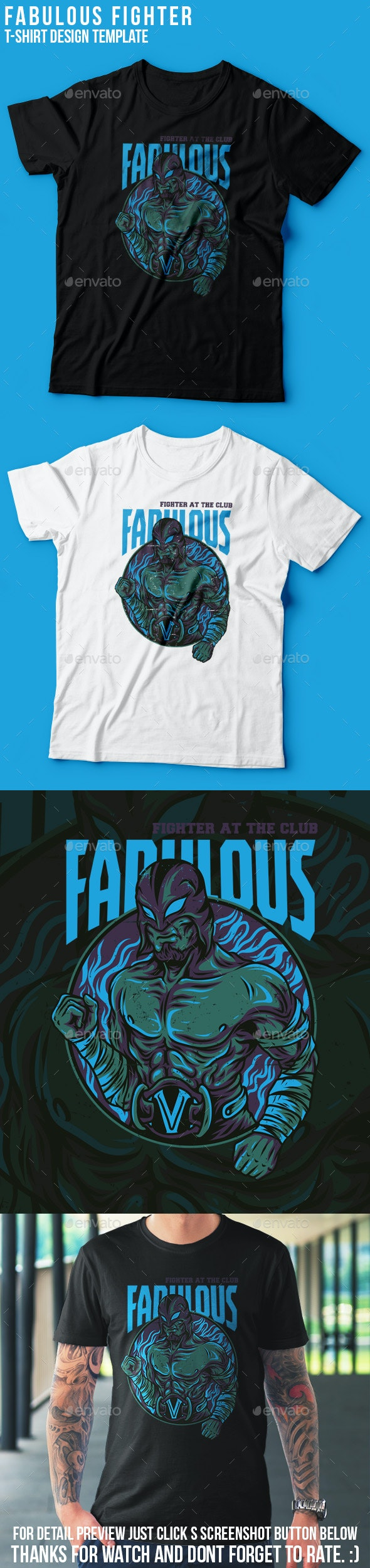 Fabulous Fighter T-Shirt Design - Academic T-Shirts