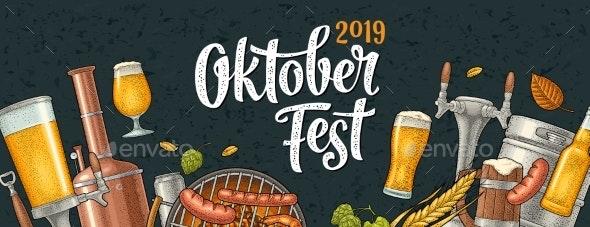 Horizontal Poster To Oktoberfest 2019 Festival - Miscellaneous Seasons/Holidays