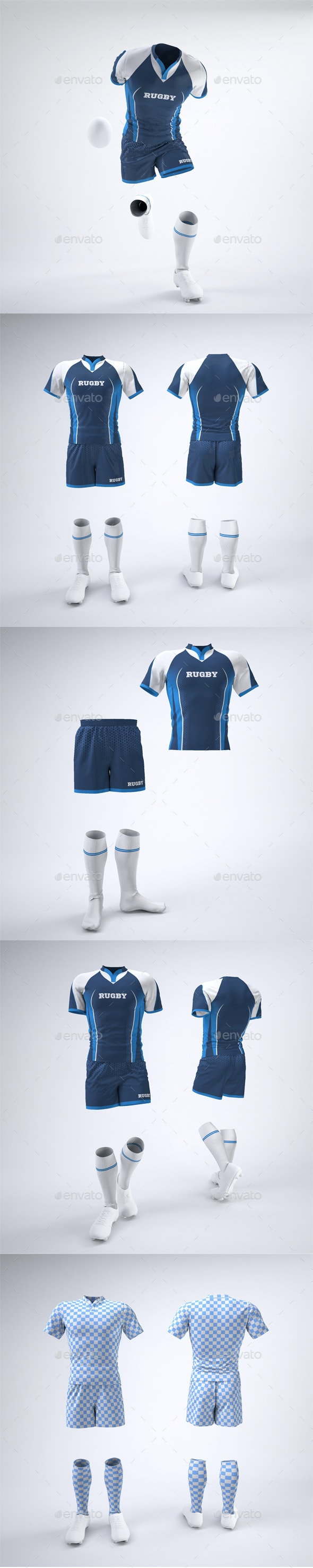Rugby Team Uniform Mock-Up - Apparel Product Mock-Ups