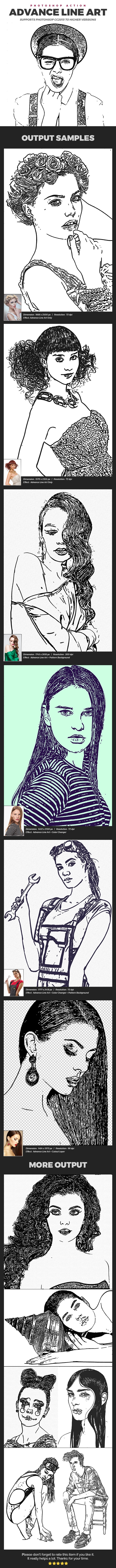 Advance Line Art - Photo Effects Actions
