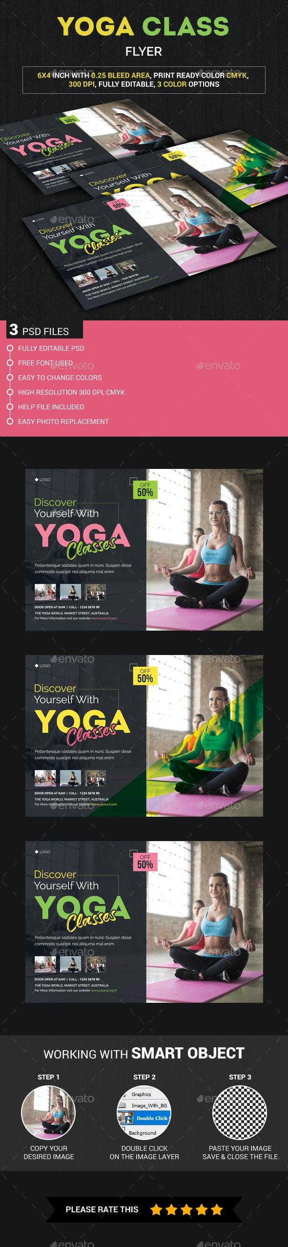 Yoga class Flyer - Events Flyers