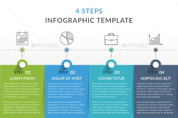 4 Steps - Infographic Template - Infographics