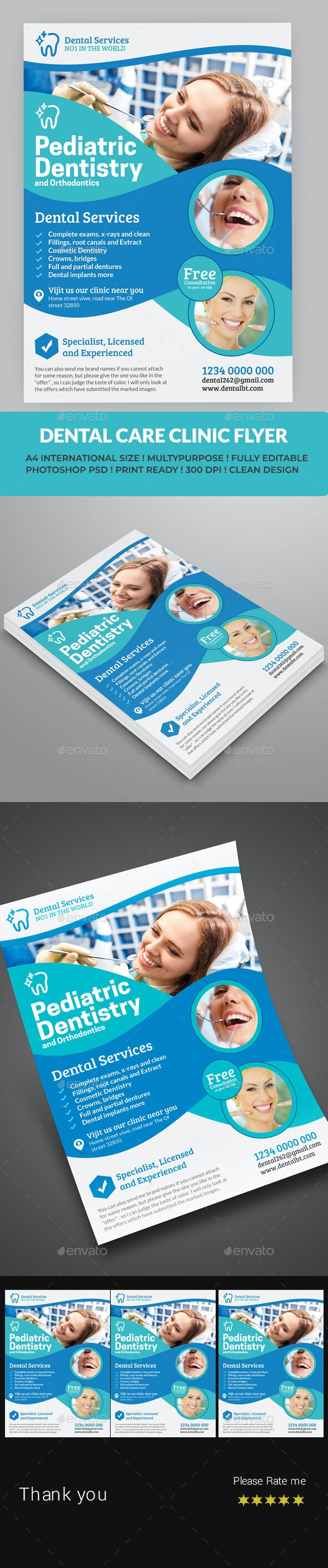 Dental Care Health Medical Flyer Template - Commerce Flyers