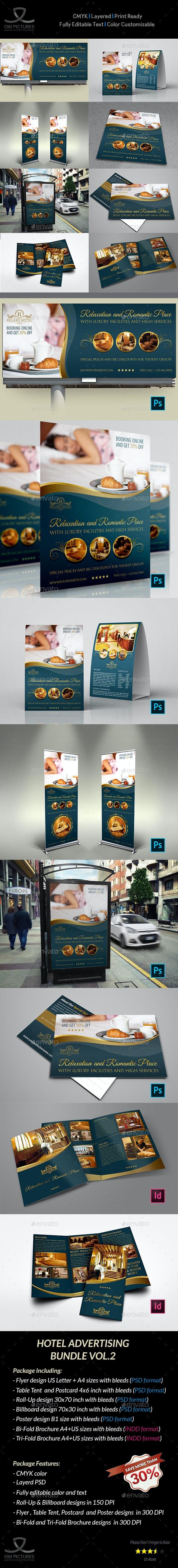 Hotel Advertising Bundle Vol.2 - Signage Print Templates