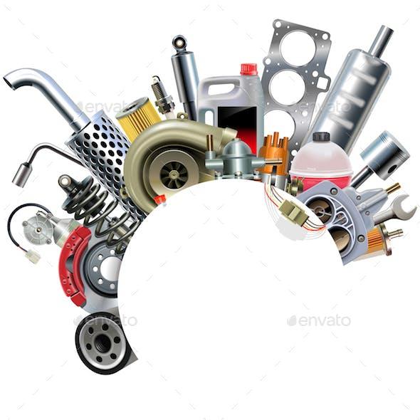 Vector Car Spares Frame Concept