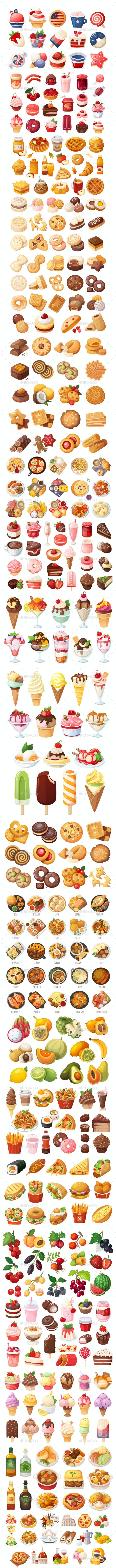 Food Vector Set - Food Objects