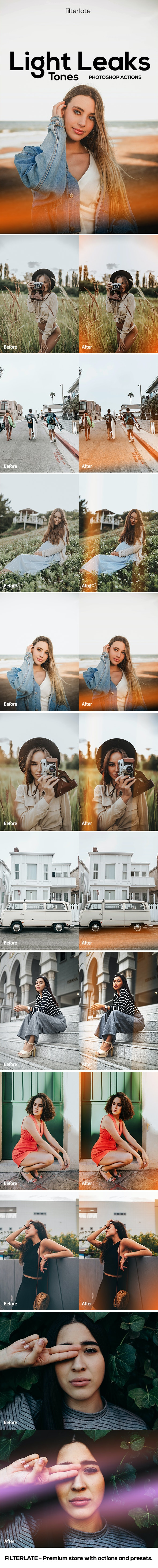 Light Leaks Tones - Photo Effects Actions