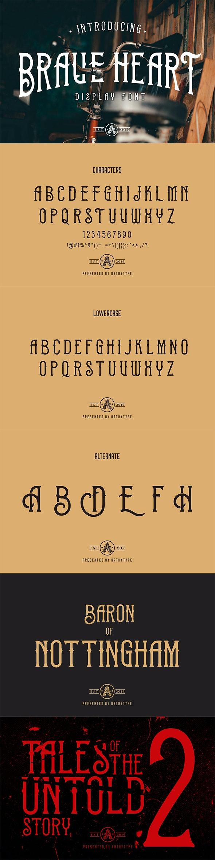 Brave Heart Font - Gothic Decorative