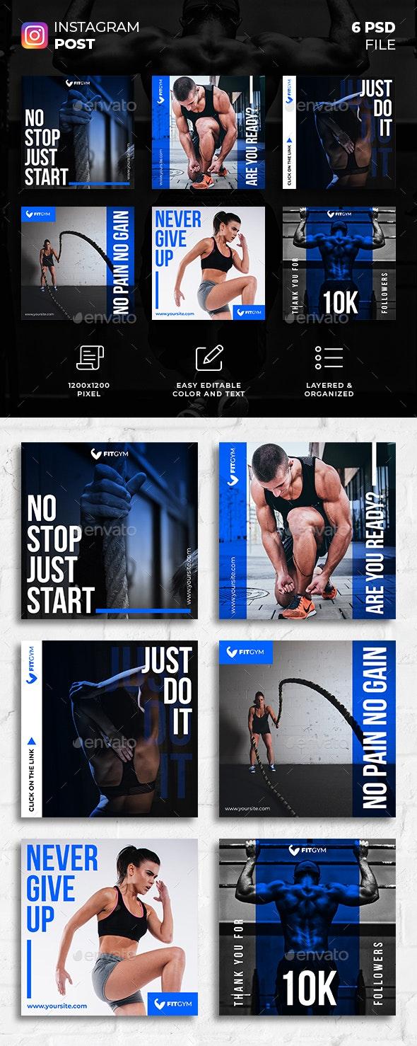 Fitness Gym Instagram Post - Social Media Web Elements
