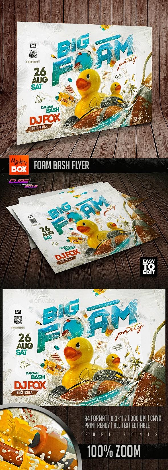Foam Bash Flyer - Clubs & Parties Events