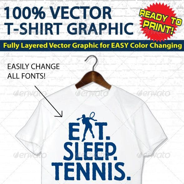 Tennis Vector T-shirt Graphic - Template