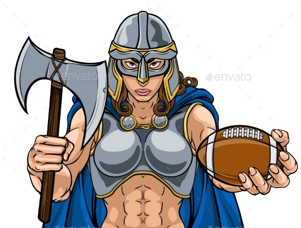 Viking Trojan Celtic Knight Football Warrior Woman - People Characters