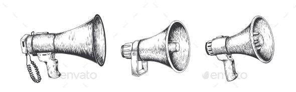 Vintage Megaphone - Miscellaneous Vectors