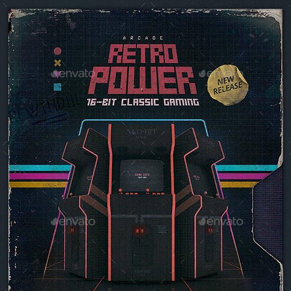 Retro Gaming Flyer 80s VHS Template v2