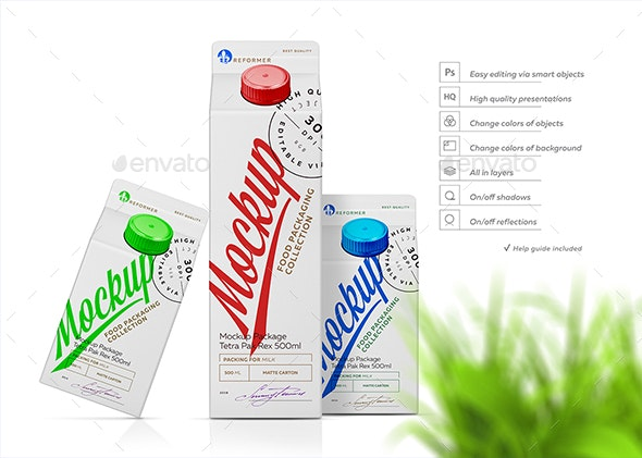 Mockup Poster Package Tetra Pak Rex - Product Mock-Ups Graphics