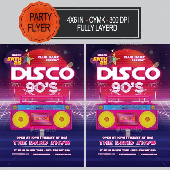 Disco 90s Party Flyer