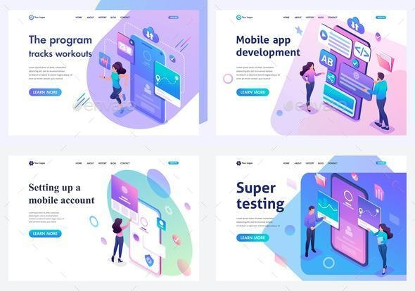 Set Isometric Landing Pages, Testing Mobile Application Development and Setting Up - Computers Technology