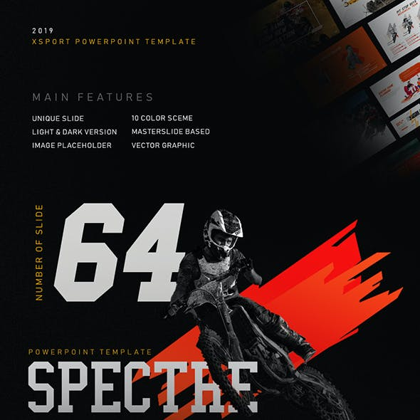 Spectre Xtreme Sport & Games PowerPoint Template