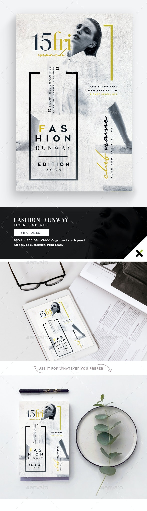Fashion Runway Flyer Template - Flyers Print Templates