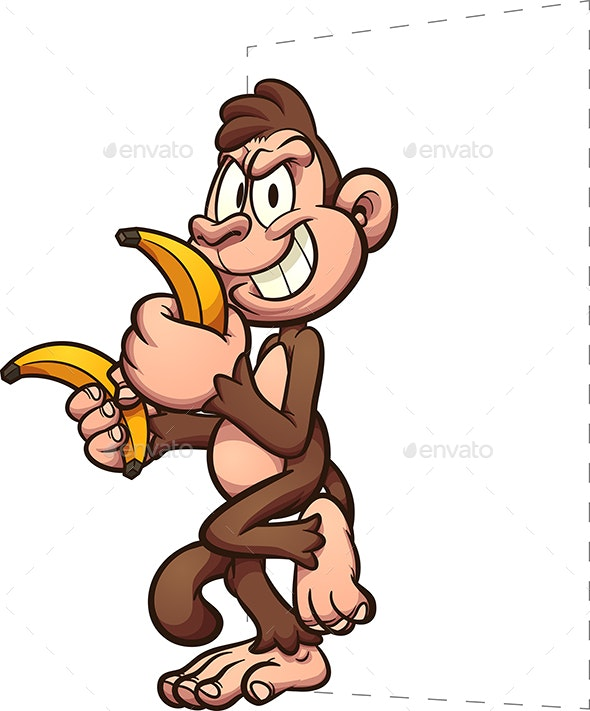Monkey Bananas - Animals Characters