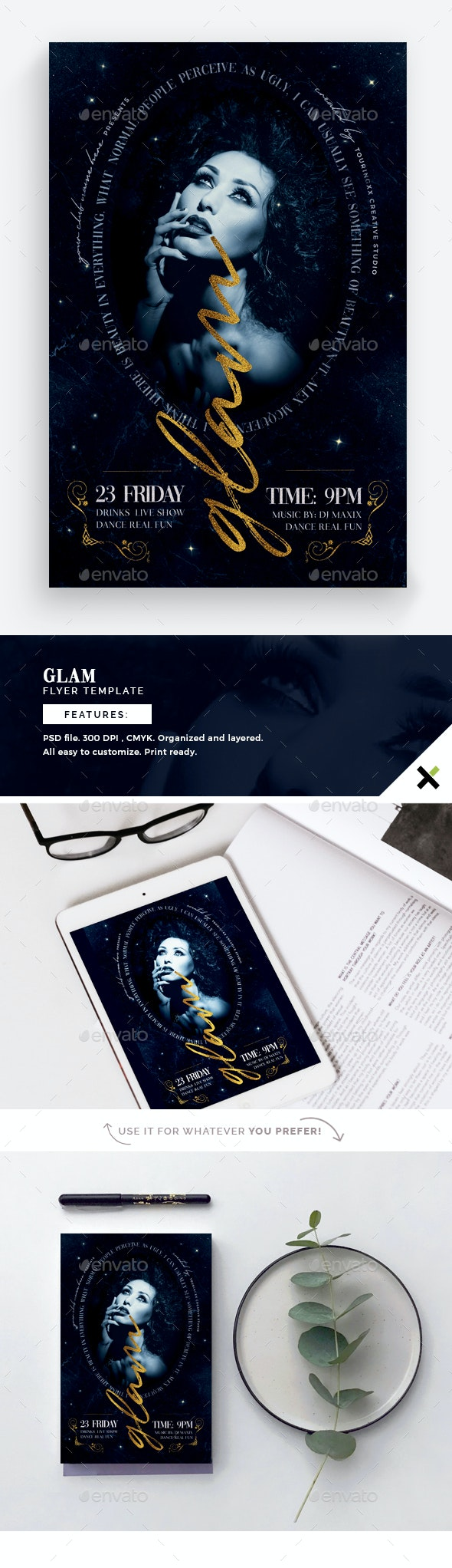 Glam Flyer Template - Events Flyers