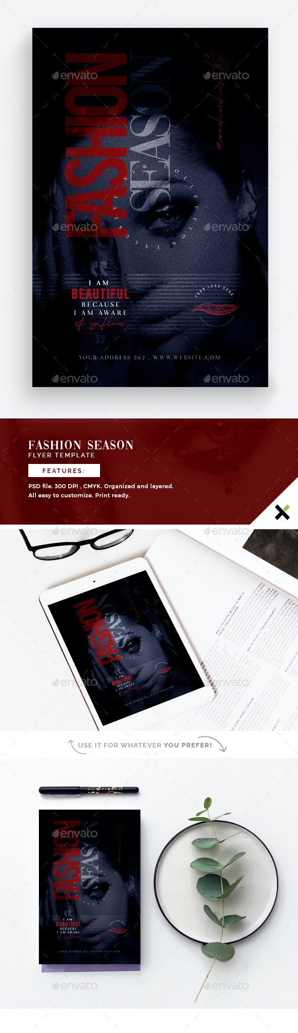 Fashion Season Flyer Template - Flyers Print Templates