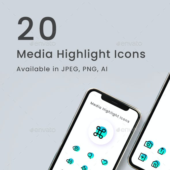 20 Media Icons