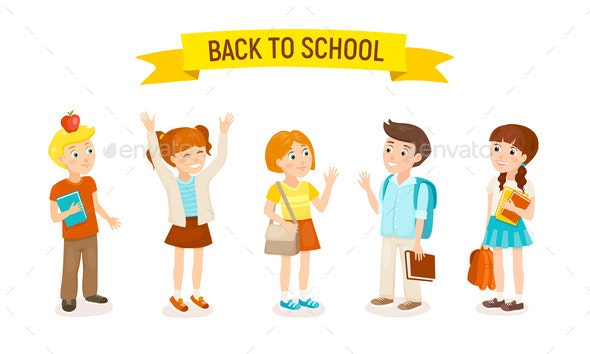 School Kids Vector Illustration - Miscellaneous Vectors
