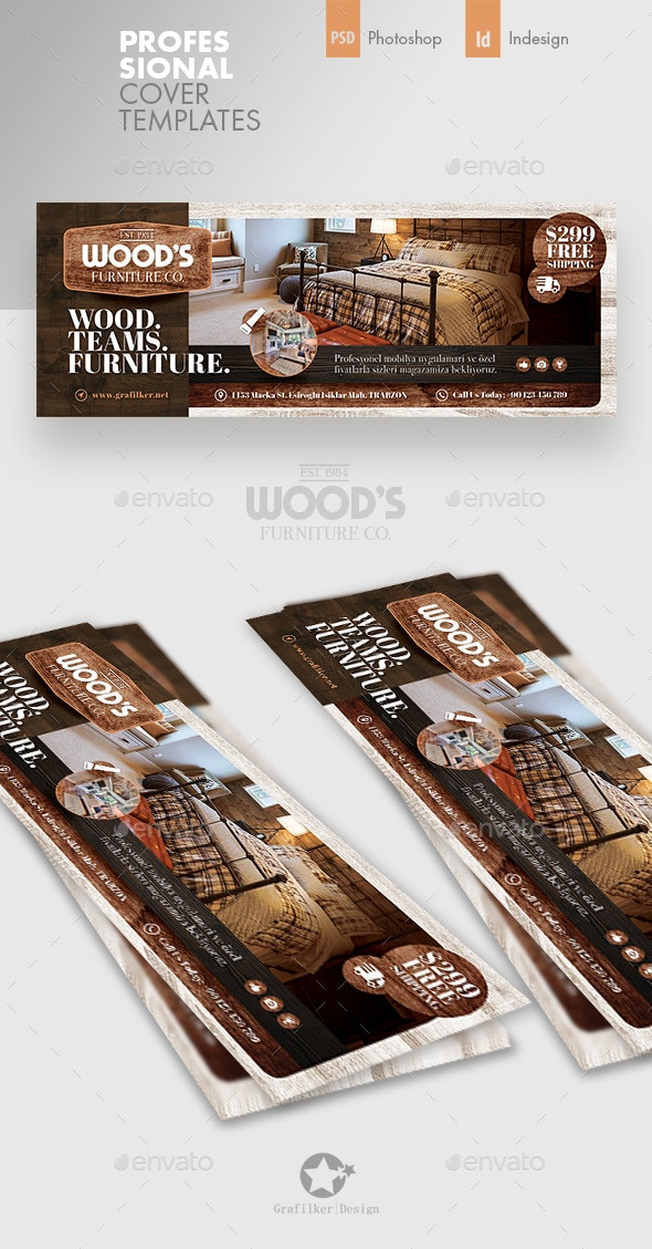 Wood Furniture Cover Templates - Facebook Timeline Covers Social Media