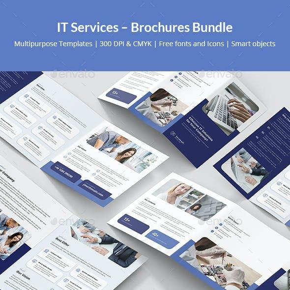 IT Services – Brochures Bundle Print Templates 5 in 1