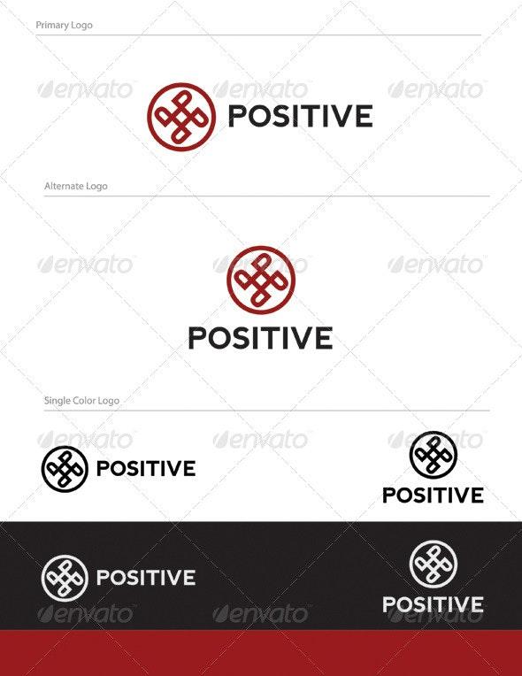 Positive Logo Design - LET-024 - Letters Logo Templates