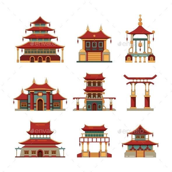 China Traditional Buildings - Buildings Objects